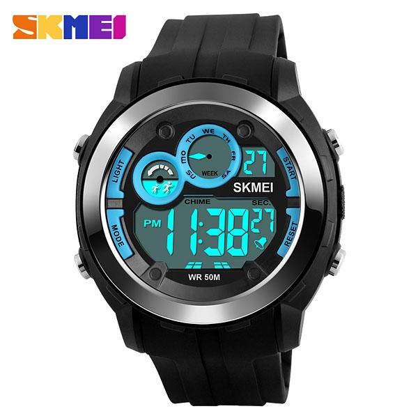 часы SKMEI 1234 Black Blue  (черные с синим) - 1