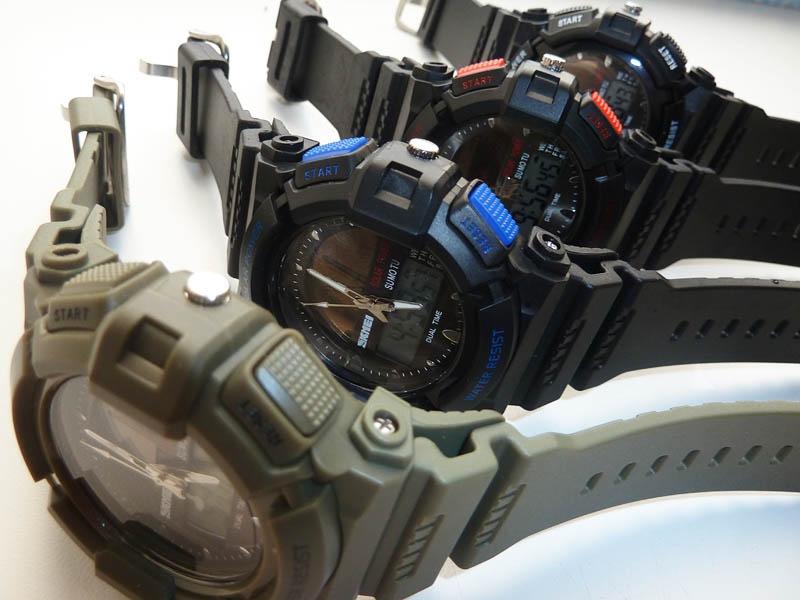 часы SKMEI solar 1050 чёрные с синим - 2