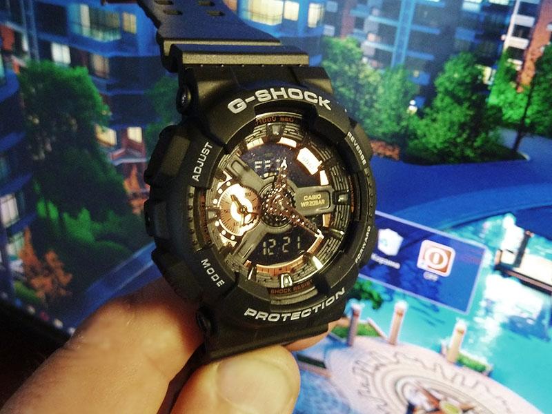 часы 110 ААА чёрные в меди - 2