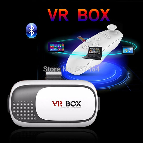 Очки - шлем VR Box 2.0 GLASSES + bluetooth-джойстик - 1