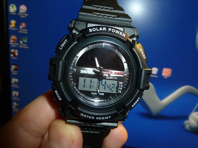 часы SKMEI solar 1050 чёрные - 1