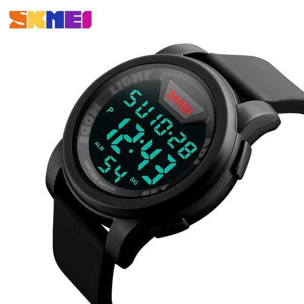 часы SKMEI 1218 Black (чёрные) - 3
