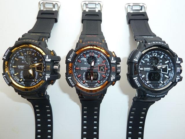часы  1100 черные с золотистым металликом - 5