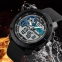 часы SKMEI 1361 чёрные с синим - 2