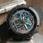 часы SKMEI 1361 чёрные с синим - 4