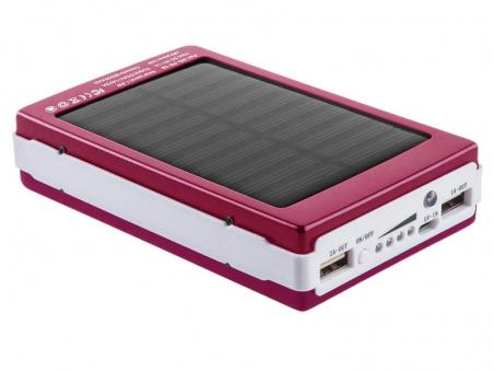 Power Bank Solar 30000 mAh розовый (15000)