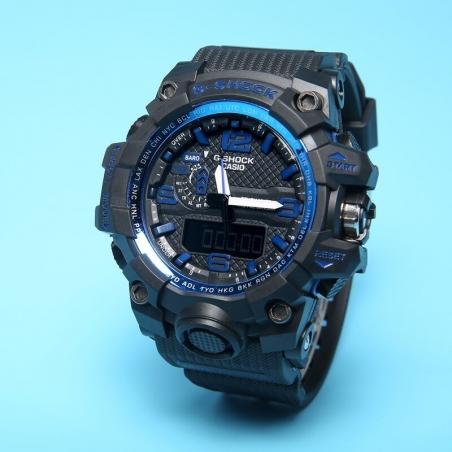 часы 1000 черные с синим