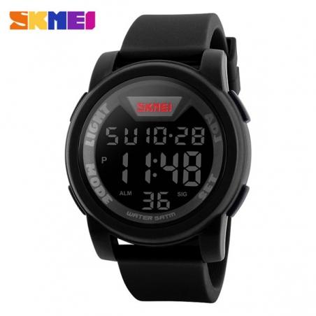 часы SKMEI 1218 Black (чёрные)