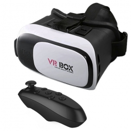 Очки - шлем VR Box 2.0 GLASSES + bluetooth-джойстик