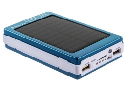 Power Bank Solar 30000 mAh голубой (15000)