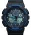 часы  100 черные с синим шрифтом